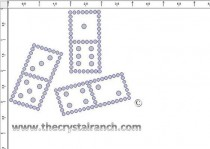 Dominoes Rhinestone Transfer CRY132