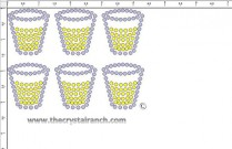 Shot Glass Rhinestone Transfer CRY201ck