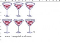 Shot Glass Rhinestone Transfer CRY202ck