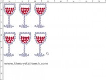 Wine Glass Rhinestone Transfer CRY205