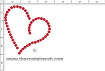 Heart Stud Transfer CRY222