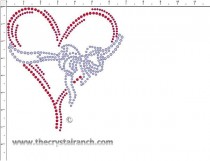Heart Rhinestone Transfer CRY225ck