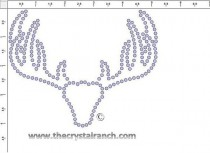 Deer Rack Rhinestone Transfer CRY276c