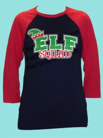 Elf Squad Rhinestone and Glitter Tee THV070