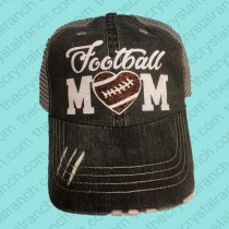 Football Mom Glitter Cap CTV0