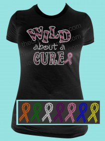Wild about a Cure Rhinestone Tee TG096