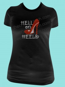 Hell on Heels Rhinestone Tee TG108