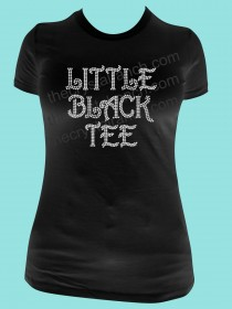 Little Black Tee Rhinestone Tee TG127