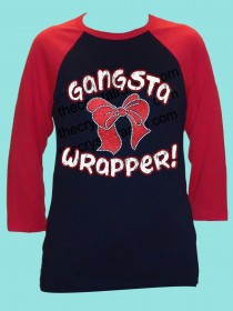 Gangsta Wrapper Rhinestone and Glitter Tee THV019