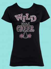 Wild About Cheer Rhinestone Tee GTS289