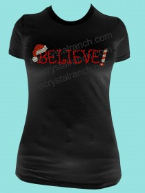 Believe! Rhinestone Tee TH007