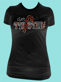 Get Twisted! Rhinestone Tee TH073