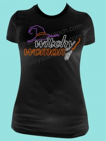 Witchy Woman Rhinestone Tee TH102