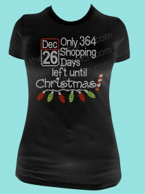 Only 364 Shopping Days left until Christmas! Rhinestone Tee TH106