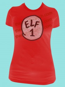 Elf 1 or 2 or 3... Rhinestone Tee TH125