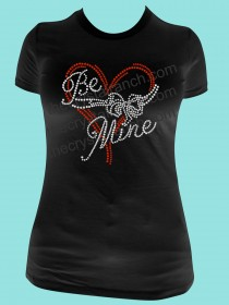 Be Mine Rhinestone Tee TH132