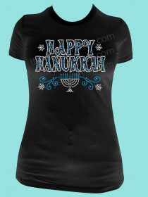 Happy Hanukkah Rhinestone Tee TH149