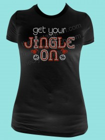 Get Your Jingle On Rhinestone Tee TH161