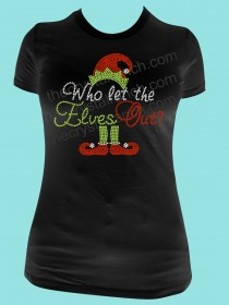 Who Let the Elves Out Rhinestone Tee TH180