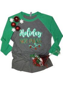 Holiday Hot Mess Rhinestone and Glitter Tee THV080NC