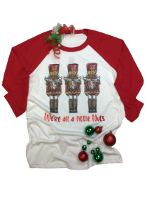 We're all a little Nuts Raglan Tee THV095NC