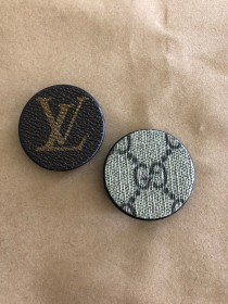 Upcycled LV and Gucci Phone Grips
