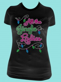 All the Jingle Ladies Rhinestone and Glitter Tee THV031