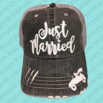 Just Married Glitter Cap CFW006