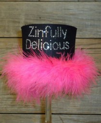 Zinfully Delicious Rhinestone Drink Koozie KB141