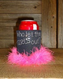 Who Let the Girls Out Rhinestone Drink Koozie KB161