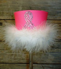 Support Ribbon Rhinestone Drink Koozie KG109