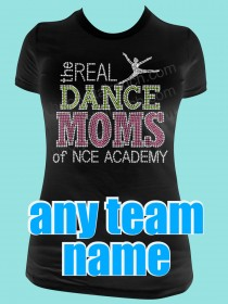 The Real Dance Moms of Your Dance Team Rhinestone Tee TP040