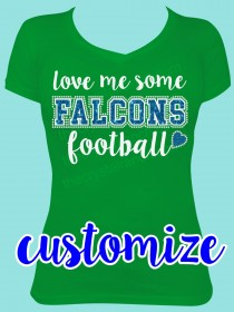 Team Love me Some... Glitter and Rhinestone Tee TP060