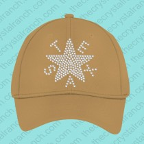 Texas Star Rhinestone cap CR026