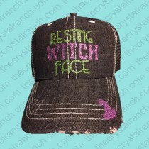 Resting Witch Face Glitter Cap