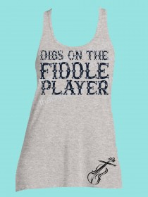 Dibs on the Fiddle Player Rhinestone and Screen Print Tee TRS020