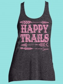 Happy Trails Rhinestone and Screen Print Tee TRS037