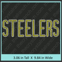 Steelers Rhinestone Transfer CRT069