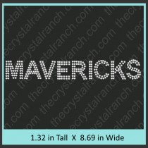 Mavericks Rhinestone Transfer CRT175