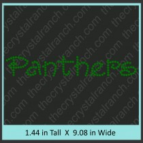 Panthers Rhinestone Transfer CRT188