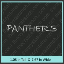 Panthers Rhinestone Transfer CRT197