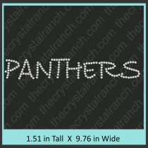 Panthers Rhinestone Transfer CRT198