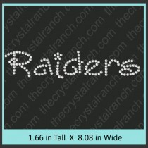 Raiders Rhinestone Transfer CRT257