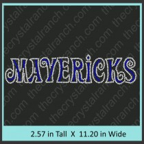 Mavericks Rhinestone Transfer CRT274