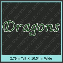 Dragons Rhinestone Transfer CRT341