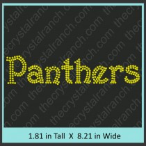 Panthers Rhinestone Transfer CRT359