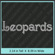 Leopards Rhinestone Transfer CRT362