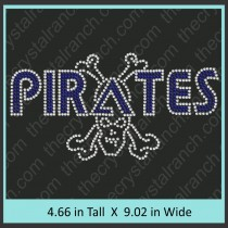 Pirates with Skull and Crossbones Rhinestone Transfer CRT383
