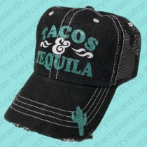 Tacos and Tequila Glitter Cap CR005