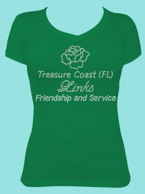 Treasure Coast (FL) Links Friendship and Service Rhinestone Tee